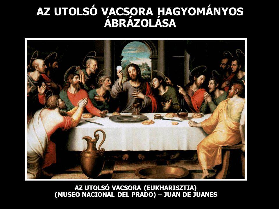 AZ UTOLSÓ VACSORA HAGYOMÁNYOS ÁBRÁZOLÁSA