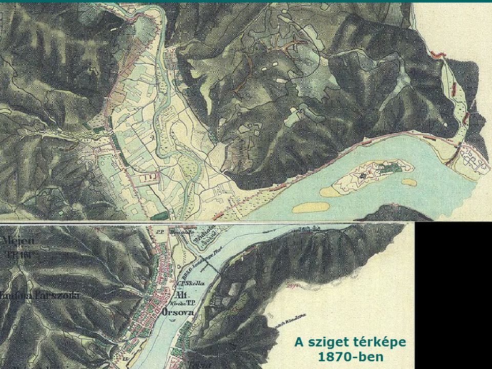 A sziget térképe 1870-ben