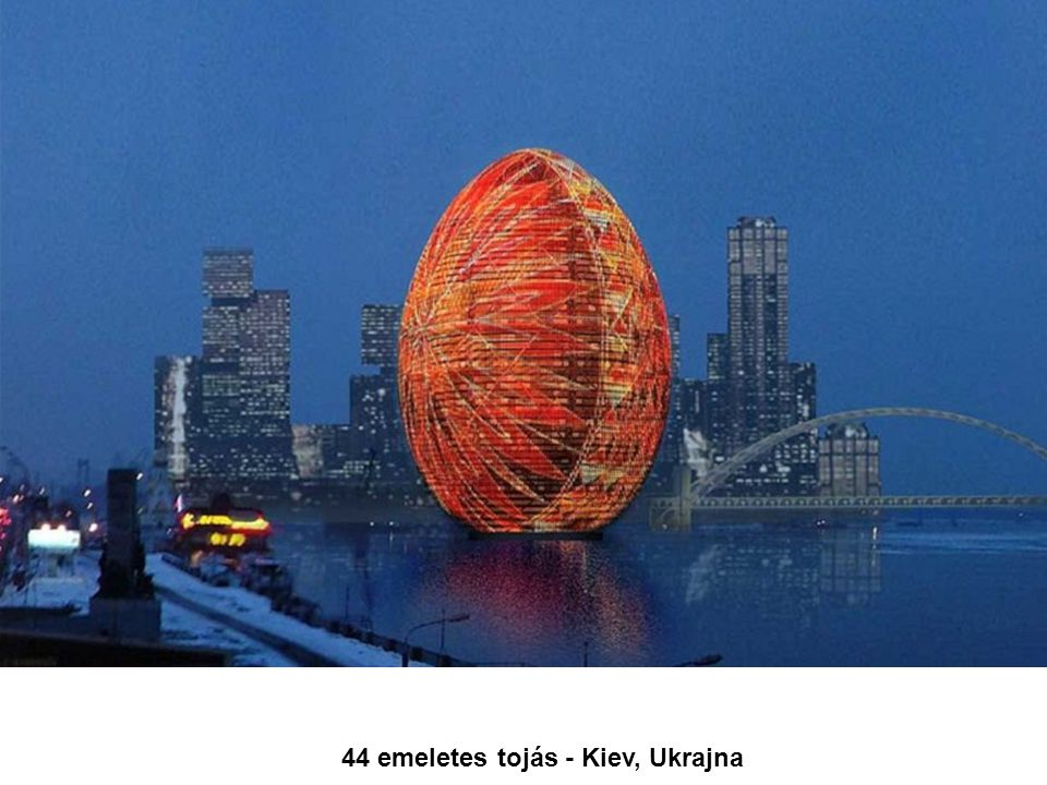 44 emeletes tojás - Kiev, Ukrajna