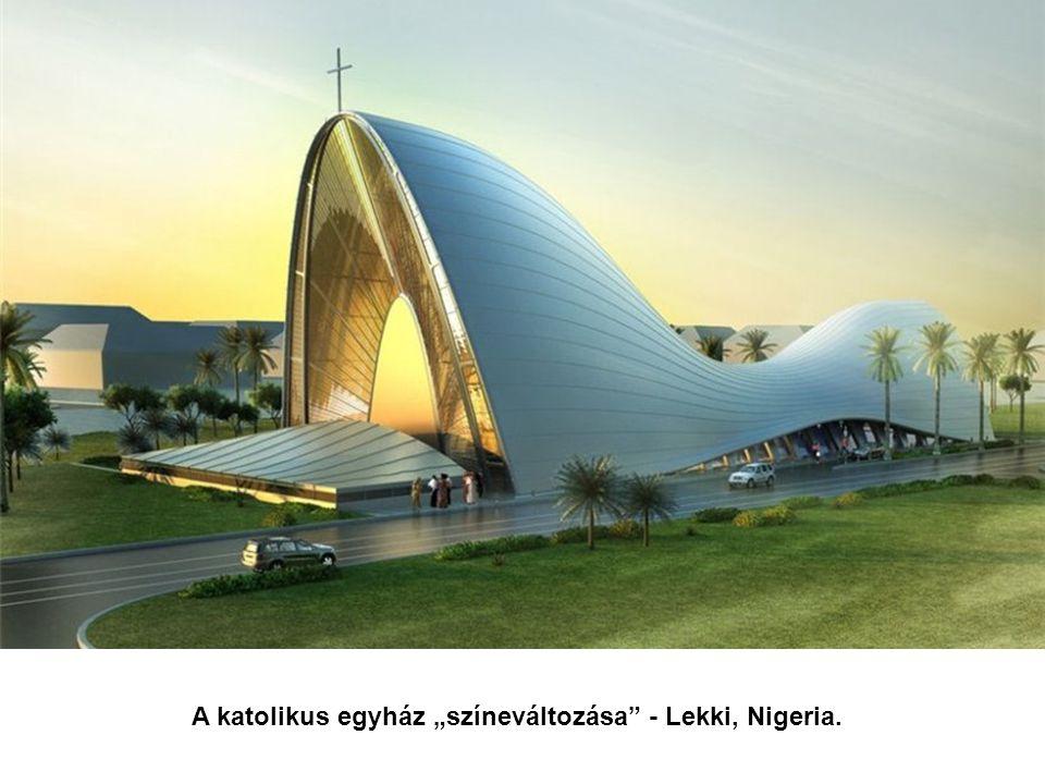 """A katolikus egyház """"színeváltozása - Lekki, Nigeria."""