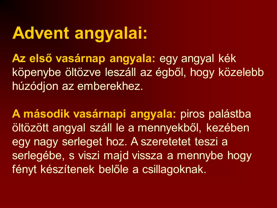 Advent angyalai: