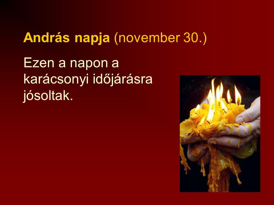 András napja (november 30.)