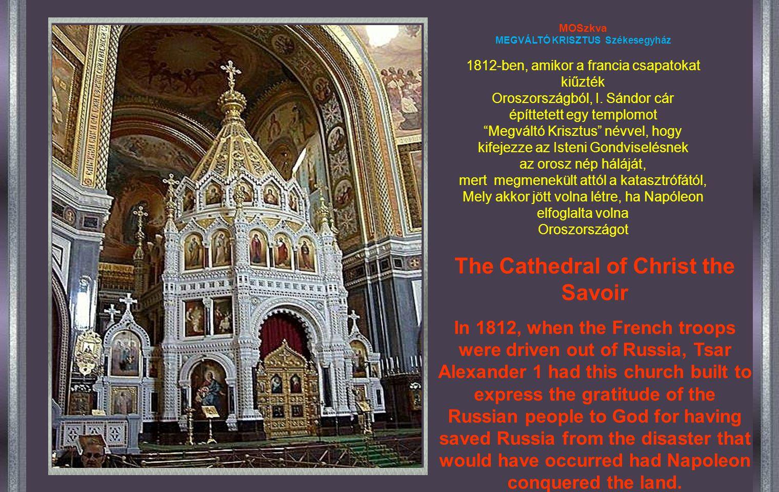MEGVÁLTÓ KRISZTUS Székesegyház The Cathedral of Christ the Savoir