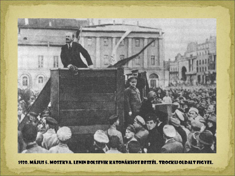 1920. május 5. Moszkva. Lenin bolsevik katonákhoz beszél
