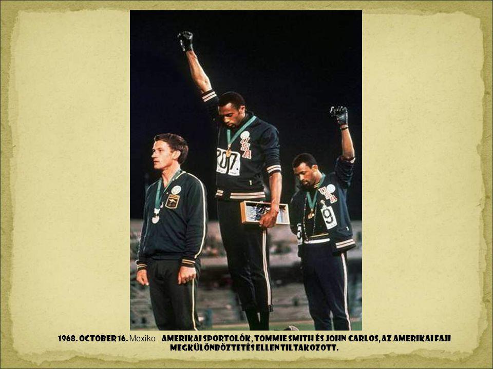 1968. OCToBer 16. Mexiko.