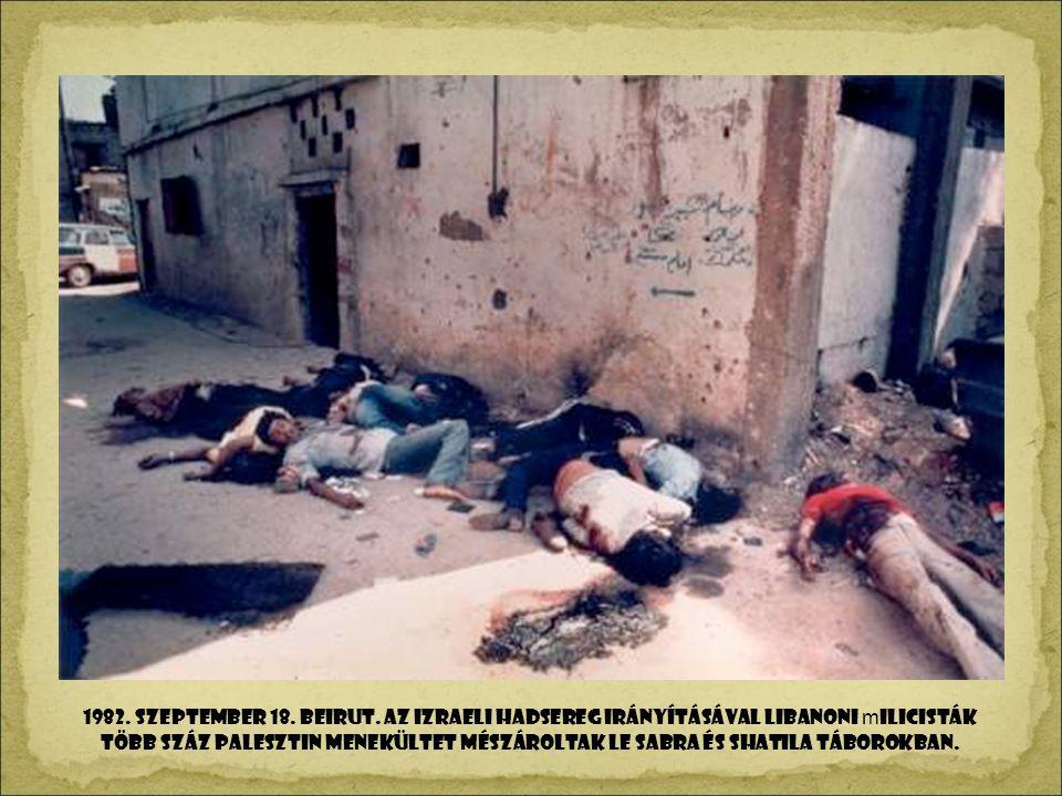 1982. szeptember 18. BEIRUT.