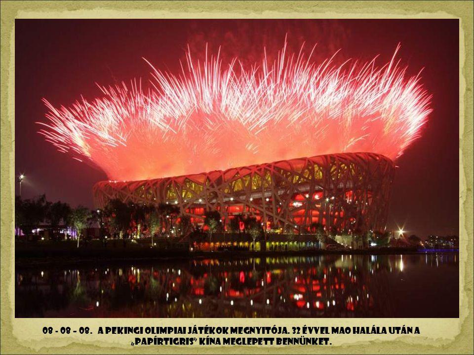 08 - 08 – 08. A pekingi olimpiai játékok megnyitója