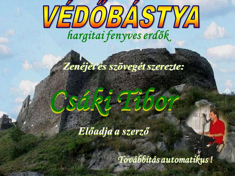VÉDŐBÁSTYA hargitai fenyves erdők Csáki Tibor