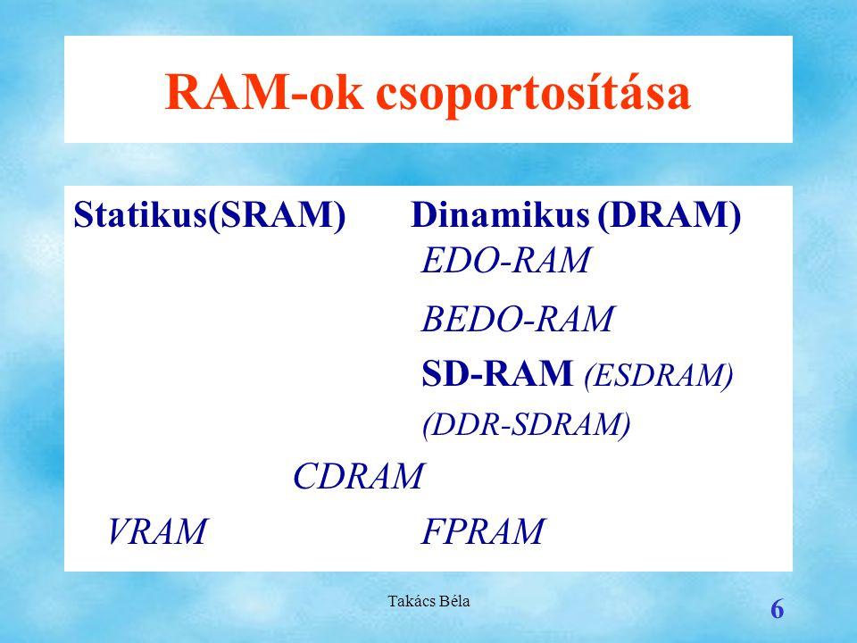 RAM-ok csoportosítása