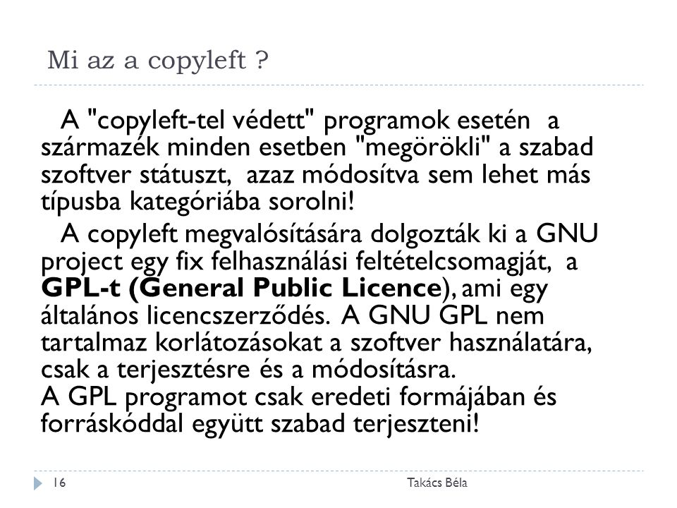 Mi az a copyleft