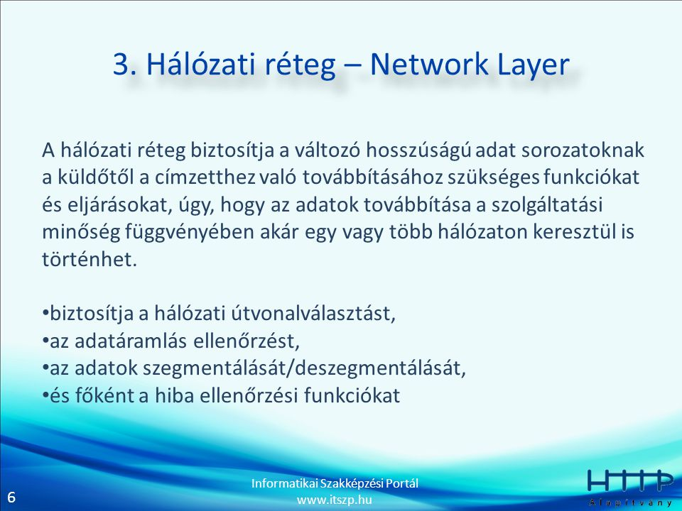 3. Hálózati réteg – Network Layer