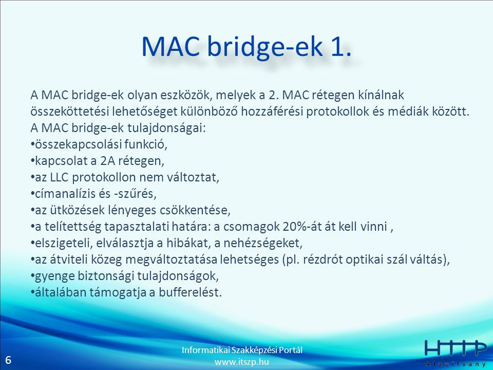 MAC bridge-ek 1.