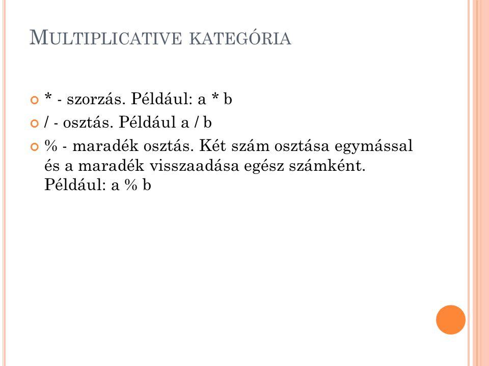 Multiplicative kategória