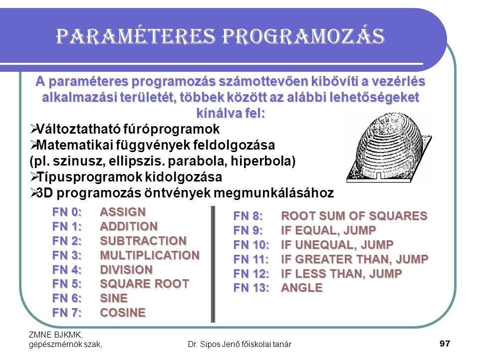 Paraméteres programozás