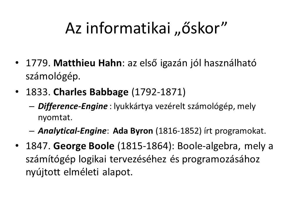 """Az informatikai """"őskor"""