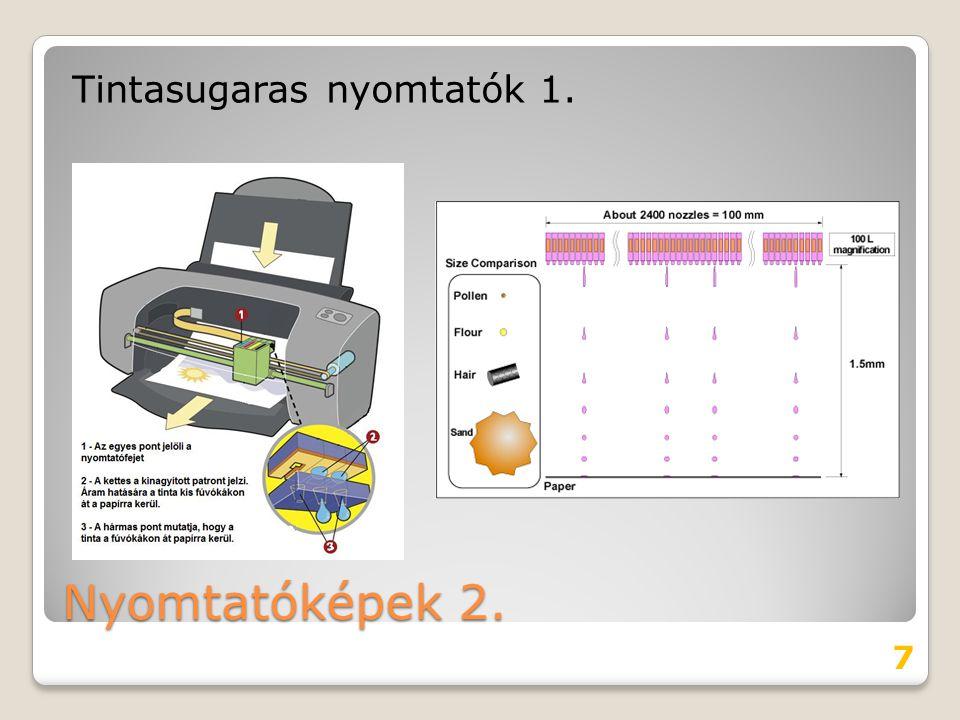 Tintasugaras nyomtatók 1.