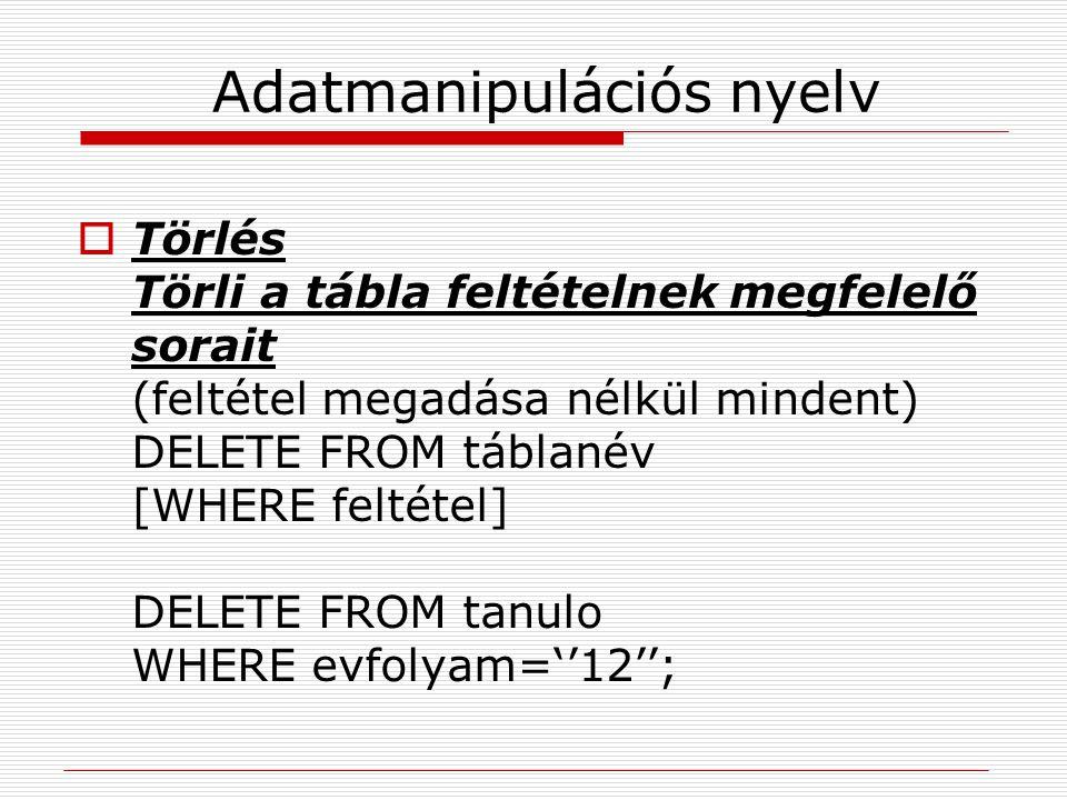 Adatmanipulációs nyelv