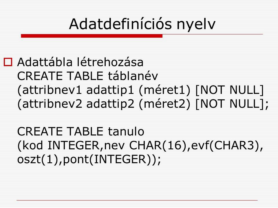 Adatdefiníciós nyelv