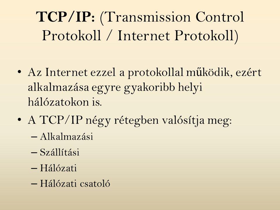 TCP/IP: (Transmission Control Protokoll / Internet Protokoll)
