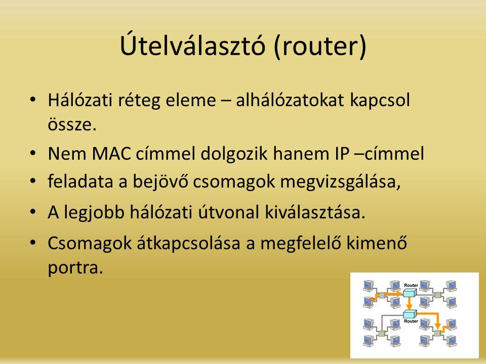 Útelválasztó (router)