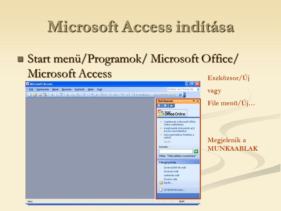 Microsoft Access indítása