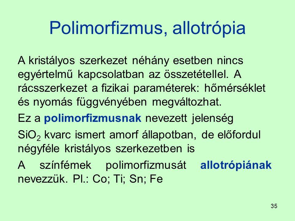 Polimorfizmus, allotrópia