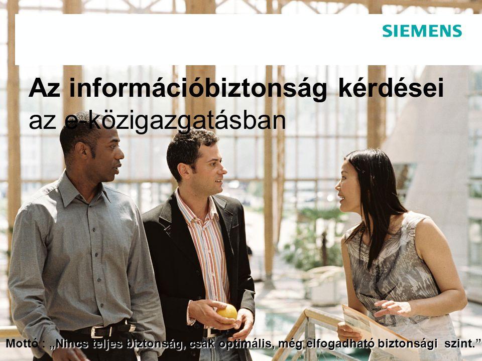 Az információbiztonság kérdései az e-közigazgatásban