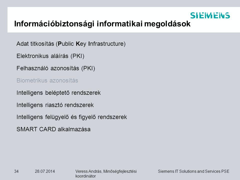 Információbiztonsági informatikai megoldások