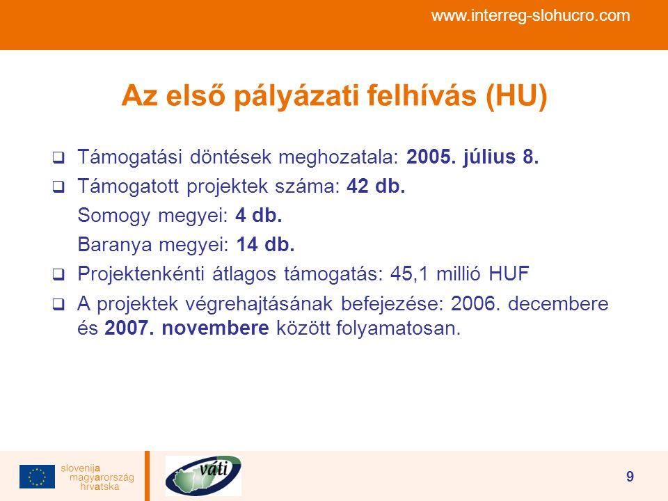 A második pályázati felhívás (HU)