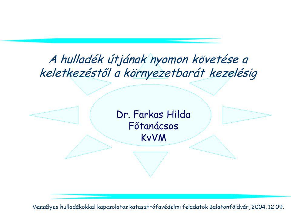Dr. Farkas Hilda Főtanácsos KvVM
