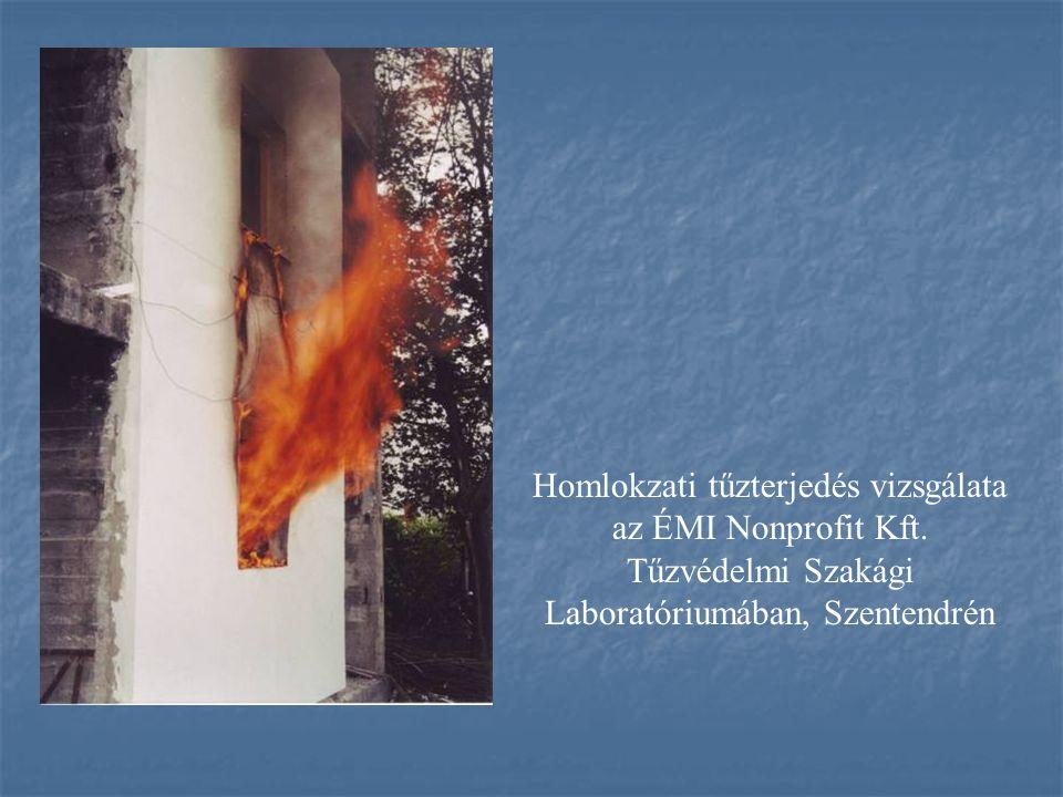 Homlokzati tűzterjedés vizsgálata az ÉMI Nonprofit Kft.