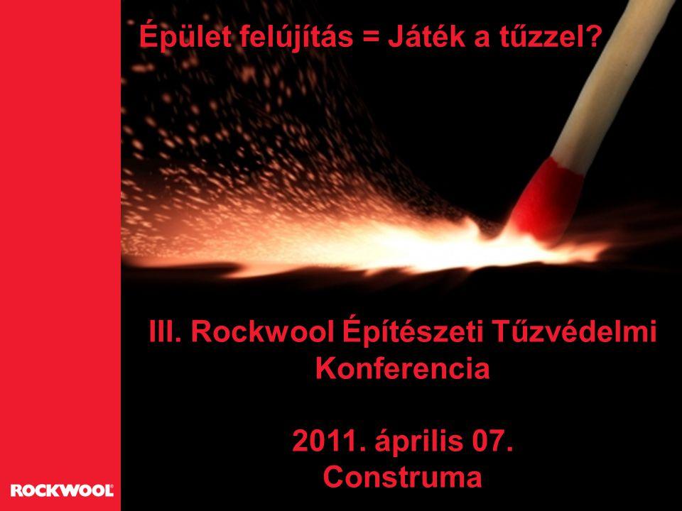 III. Rockwool Építészeti Tűzvédelmi