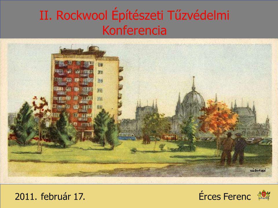 II. Rockwool Építészeti Tűzvédelmi Konferencia