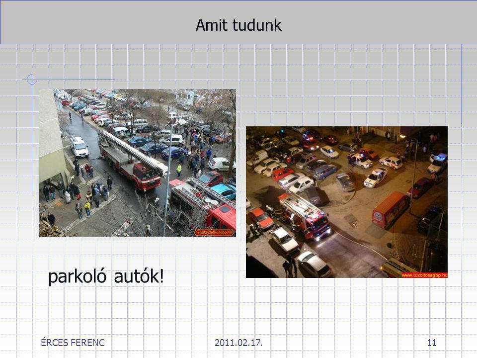 Amit tudunk parkoló autók! ÉRCES FERENC 2011.02.17.