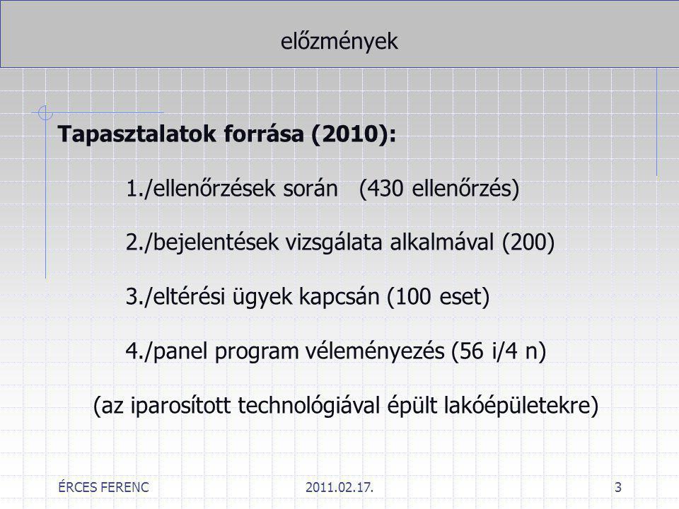 Tapasztalatok forrása (2010): 1./ellenőrzések során (430 ellenőrzés)