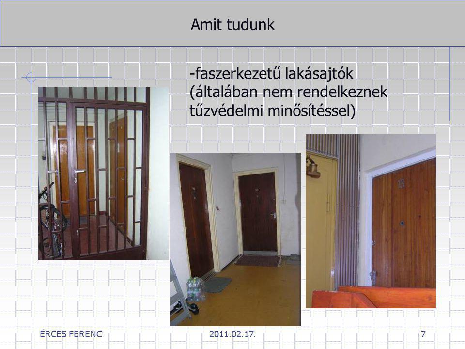 -faszerkezetű lakásajtók