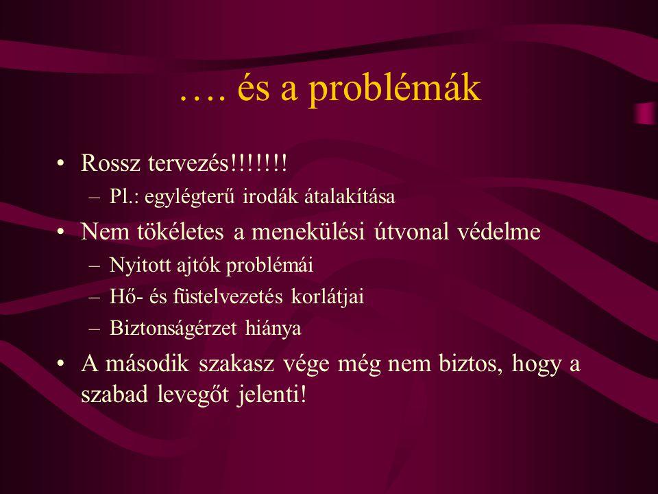 …. és a problémák Rossz tervezés!!!!!!!
