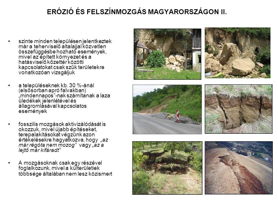 ERÓZIÓ ÉS FELSZÍNMOZGÁS MAGYARORSZÁGON II.