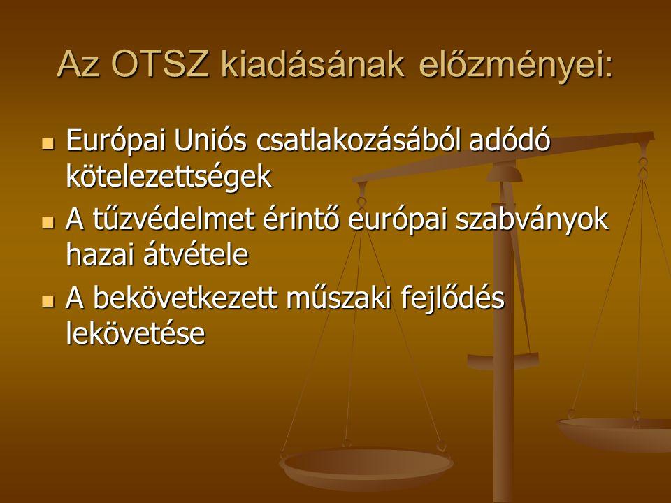 Az OTSZ kiadásának előzményei: