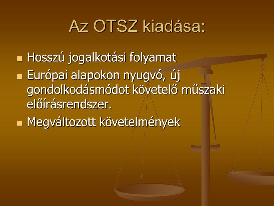 Az OTSZ kiadása: Hosszú jogalkotási folyamat