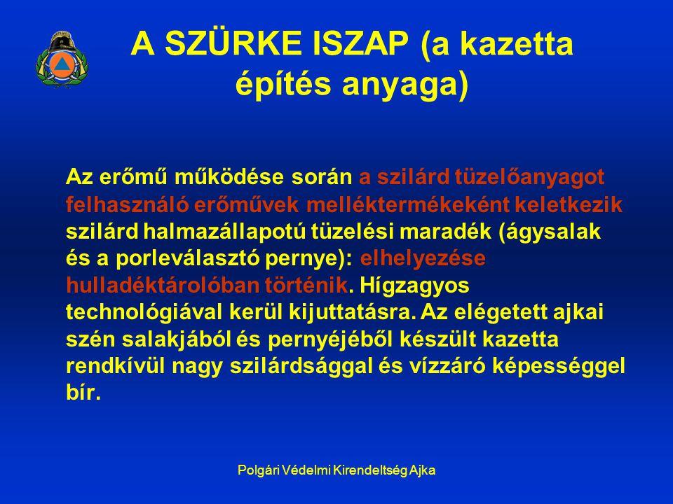 A SZÜRKE ISZAP (a kazetta építés anyaga)
