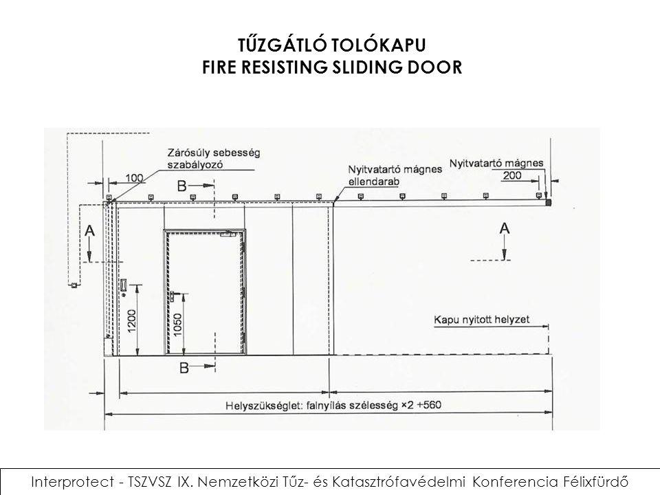 TŰZGÁTLÓ TOLÓKAPU FIRE RESISTING SLIDING DOOR