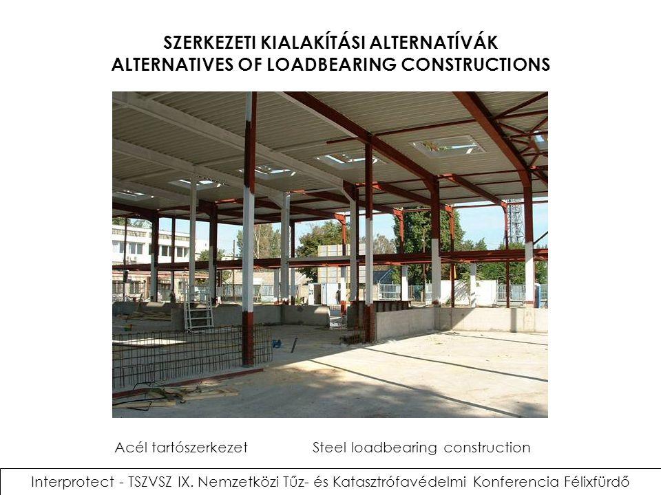 Acél tartószerkezet Steel loadbearing construction