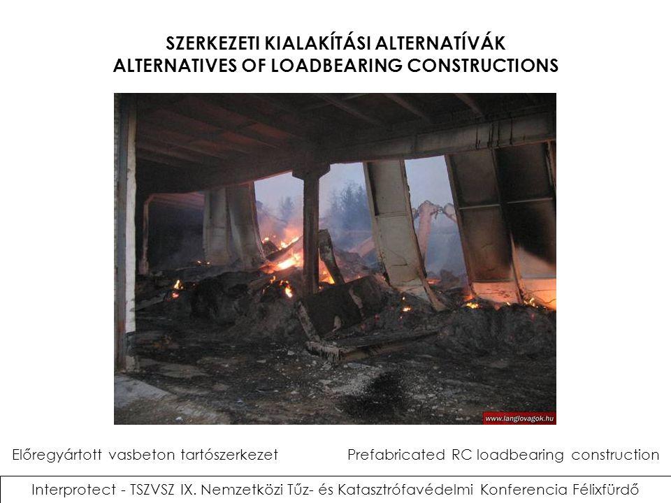 SZERKEZETI KIALAKÍTÁSI ALTERNATÍVÁK ALTERNATIVES OF LOADBEARING CONSTRUCTIONS