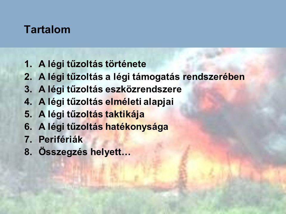 Tartalom A légi tűzoltás története