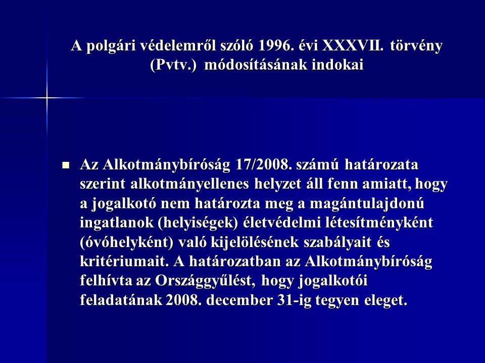 A polgári védelemről szóló 1996. évi XXXVII. törvény (Pvtv