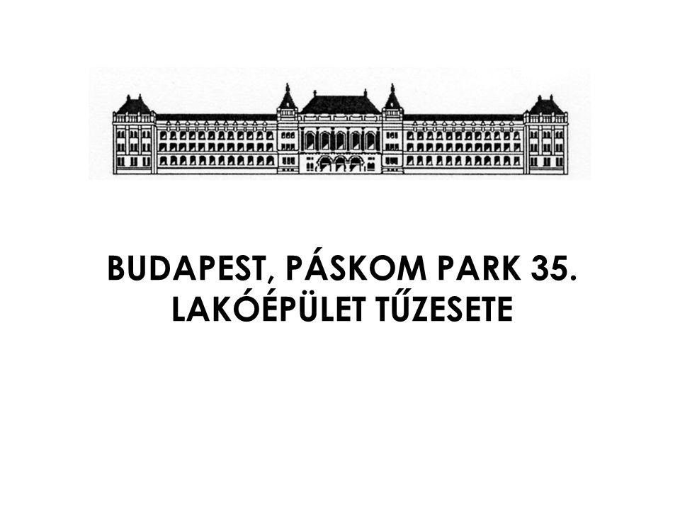 BUDAPEST, PÁSKOM PARK 35. LAKÓÉPÜLET TŰZESETE