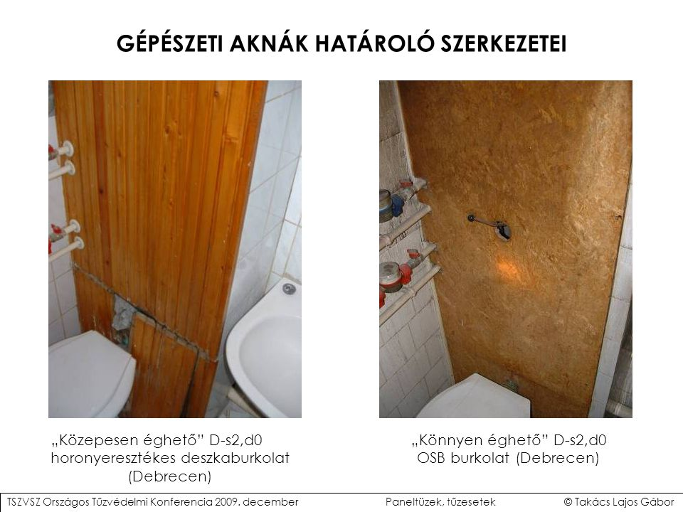 GÉPÉSZETI AKNÁK HATÁROLÓ SZERKEZETEI