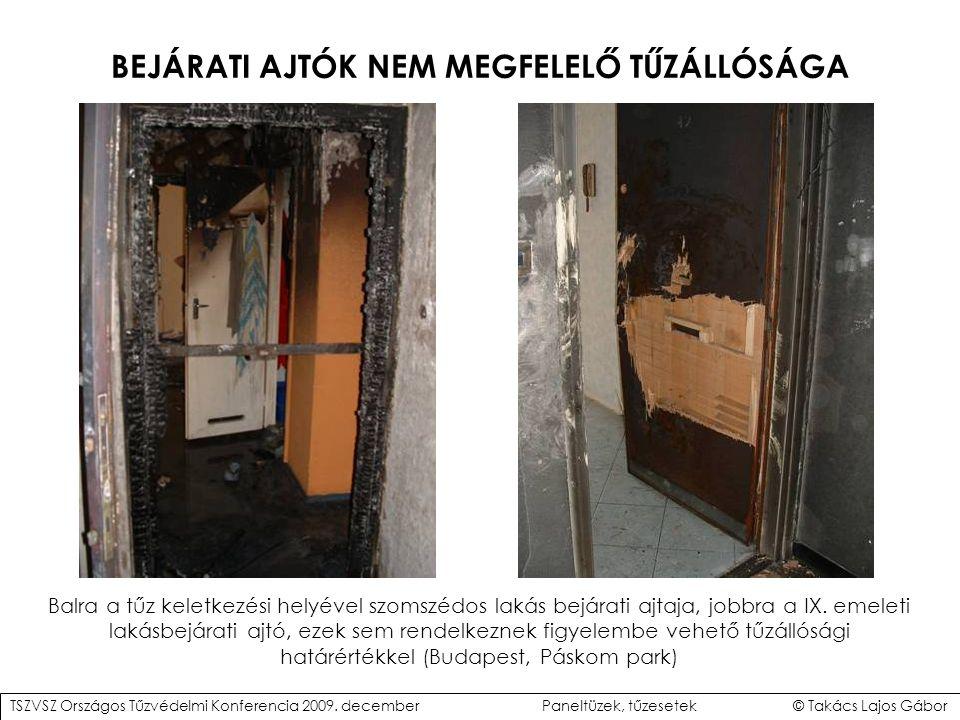 BEJÁRATI AJTÓK NEM MEGFELELŐ TŰZÁLLÓSÁGA