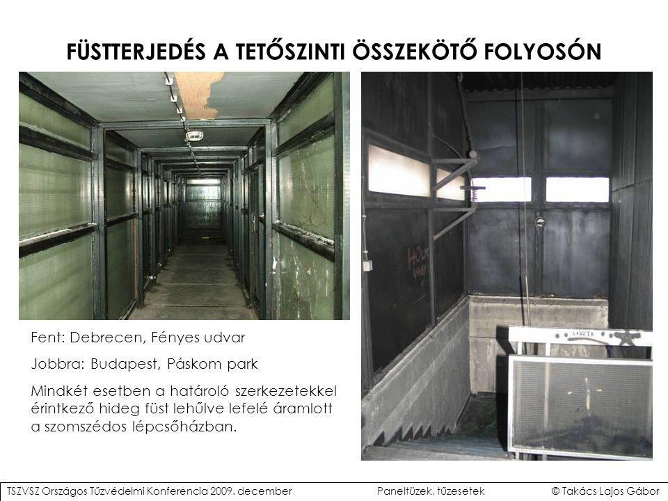 FÜSTTERJEDÉS A TETŐSZINTI ÖSSZEKÖTŐ FOLYOSÓN
